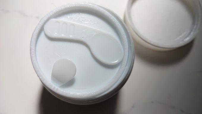 シーラボ 薬用ACGSモイスチャーEX(本体と内蓋、スパチュラ)の写真。
